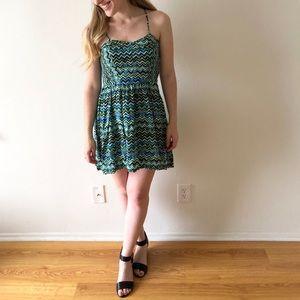Xhilaration multicolor patterned dress (S)